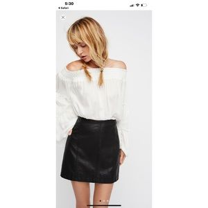 Free People Modern Femme Leather Skirt